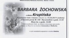 Zmarła Barbara Żochowska. Żyła 73 lata.