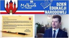 Życzenia Burmistrza Miasta Malborka z okazji święta nauczycieli i pracowników Oświaty - 14.10.2017