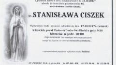 Zmarła Stanisława Ciszek. Żyła 85 lat.