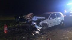 Gm. Mikołajki Pomorskie: Zderzenie czołowe w Kołozębiu. Zginął kierowca, trzy osoby są ranne – 15.10.2017