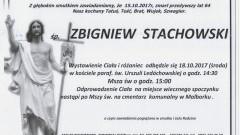 Zbigniew Stachowski. Żył 64 lat.