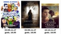 """Sztum : Kino """"Powiśle"""" zaprasza na seanse filmowe w listopadzie - 03 - 26.11.2017"""
