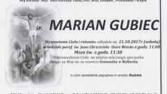 Zmarł Marian Gubiec. Żył 86 lat