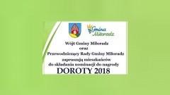 Miłoradz : Zapraszamy do składania nominacji w konkursie DOROTY 2018 - 05.01.2018