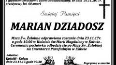 Zmarł Marian Dziadosz. Żył 60 lat