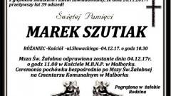 Zmarł Marek Szutiak. Żył 39 lat.