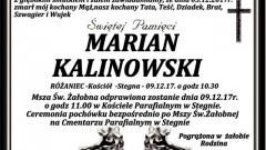 Zmarł Marian Kalinowski