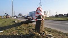 Malbork: Skasowała betonowy słup oświetleniowy - 14.01.2018