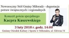 Rozdanie nagród Doroty 2018 oraz występ Kacpra Kuszewskiego już wkrótce w Miłoradzu! - 03.02.2018