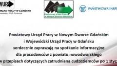 Powiatowy Urząd Pracy w Nowym Dworze Gdańskim zaprasza pracodawców na spotkanie - 09.03.2018