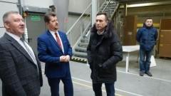 Burmistrz Miasta Malborka Marek Charzewski z wizytą w firmie ALEGRE - 27.02.2018
