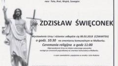 Zmarł Zdzisław Święconek. Żył 56 lat.