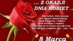Życzenia Urzędu Gminy Stegna z okazji Dnia Kobiet - 08.03.2018