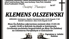 Zmarł Klemens Olszewski. Żył 87 lat.