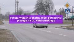 Pieszy trafił do szpitala po potrąceniu na Kotarbińskiego w Malborku. Policja wciąż wyjaśnia sprawę