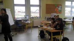 Zajęcia z włoskiego z wolontariuszką Marią w malborskiej Szkole Podstawowej nr 3