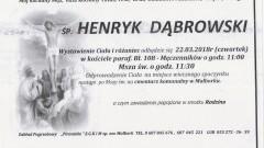 Zmarł Henryk Dąbrowski. Żył 65 lat