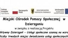 Miejski Ośrodek Pomocy w Dzierzgoniu zaprasza wszystkich rodziców dzieci na spotkanie organizacyjno/rekrutacyjne
