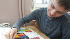 Uśnice: Przedstawiamy piękne prace Miłosza Gduli - cierpiącego na autyzm ucznia