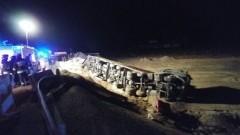 Ryki : Wypadek ciężarówki. Ponad 3 godzinne utrudnienia na tymczasowym objeździe S7