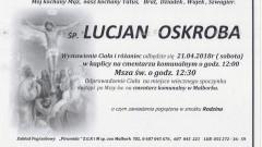 Zmarł Lucjan Oskroba. Żył 68 lat.