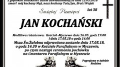 Zmarł Jan Kochański. Żył 38 lat.