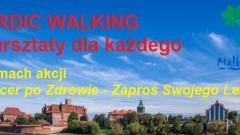 """Malbork : Kolejne warsztaty NORDIC WALKING w ramach akcji """"Spacer po zdrowie - Zaproś swojego lekarza""""."""