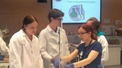 Zajęcia laboratoryjne uczniów malborskiego II LO w Centrum Experyment w Gdyni