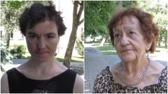 Aleksandra wraz z babcią dziękują lekarzom za szybką pomoc.