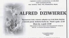 Zmarł Alfred Dziwierek. Żył 81 lat.