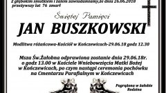 Zmarł Jan Buszkowski. Żył 76 lat