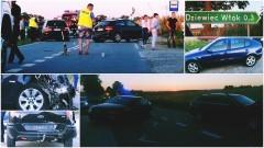 """""""Efekt domina"""" na DW515. Rozbiły się 4 auta, 5 osób poszkodowanych w tym 2 dzieci"""