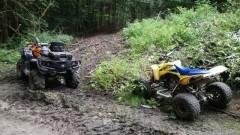 Amatorzy nielegalnej jazdy quadami po lesie zatrzymani przez leśników.