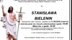 Zmarła Stanisława Bielenin. Żyła 86 lat.