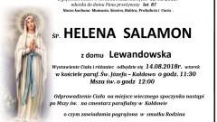 Zmarła Helena Salamon. Żyła 87 lat.