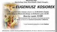 Zmarł Eugeniusz Kosiorek. Żył 74 lata.