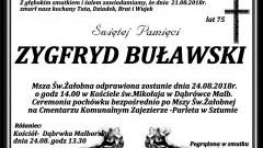 Zmarł Zygfryd Buławski. Żył 75 lat.