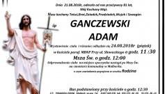 Zmarł Adam Ganczewski. Żył 81 lat.