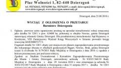 Pierwszy ustny ograniczony przetarg na sprzedaż nieruchomości rolnej położonej w obrębie Nowiec, gmina Dzierzgoń.