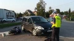 Zderzenie motocykla z samochodem osobowym - tygodniowy raport nowodworskich służb mundurowych