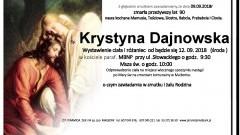 Zmarła Krystyna Dajnowska. Żyła 90 lat