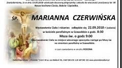 Zmarła Marianna Czerwińska. Żyła 90 lat.