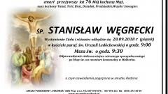 Zmarł Stanisław Węgrecki. Żył 76 lat.