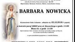 Zmarła Barbara Nowicka. Żyła 81 lat