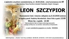 Zmarł Leon Szczypior. Żył 89 lat