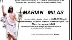 Zmarł Marian Milas. Żył 80 lat