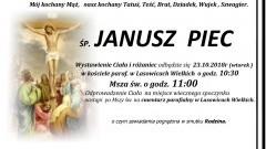 Zmarł Janusz Piec. Żył 62 lat.