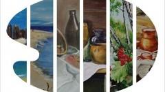 """Wernisaż wystawy """"Z paletą przez życie"""" w Malborku."""