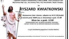 Zmarł Ryszard Kwiatkowski. Żył 67 lat.