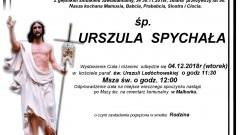 Zmarła Urszula Spychała. Żyła 90 lat.
